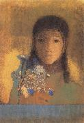 Odilon Redon Lady with Wildflowers oil painting artist