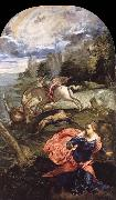 TINTORETTO, Jacopo Saint George,The Princess and the Dragon oil painting artist