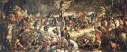 TINTORETTO, Jacopo Crucifixion oil painting artist