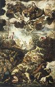 TINTORETTO, Jacopo Miracle of the Brazen Serpent oil painting artist
