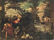 TINTORETTO, Jacopo Flight into Egypt oil painting artist