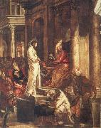 TINTORETTO, Jacopo Christ before Pilate oil painting artist