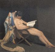Theodore Roussel The Reading Girl oil painting artist