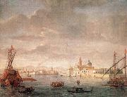 WITTEL, Caspar Andriaans van The Island of San Michele, Looking toward Murano oil painting artist
