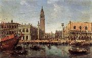 WITTEL, Caspar Andriaans van The Piazzetta from the Bacino di San Marco oil painting artist
