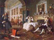 William Hogarth Marriage a la Mode ii The Tete a Tete oil painting artist