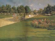 William Merrit Chase Prospect Park Brooklyn oil painting artist