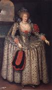GHEERAERTS, Marcus the Younger Anne of Denmark oil painting artist