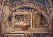 GIOVANNI DA MILANO Scenes out of life Christs  Christ in the house Simons, 2 Halfte 14 centuries. oil painting artist