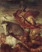 Georeg frederic watts,O.M.S,R.A. The Rider on the White Horse oil painting artist