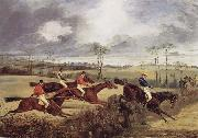 Henry Thomas Alken A Steeplechase, Near the Finish oil painting artist