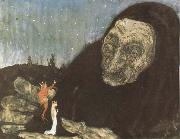 John Bauer Trollgumma and kungabarn oil painting artist