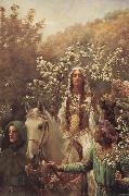 John Collier Queen Guinever-s Maying oil painting artist