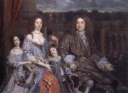 John Michael Wright The Family of Sir Robert Vyner seated before the garden at Swakeleys oil painting artist