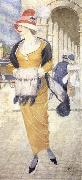Joseph E.Southall In the Rue de Rivoli oil painting artist