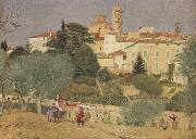 Joseph E.Southall In Tuscany oil painting artist