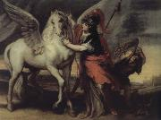 Theodor van Thulden Athene and Pegasus oil painting artist