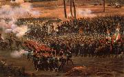 Thomas Pakenham The Revolutionary army in action oil painting artist