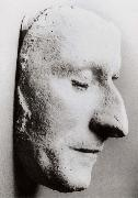 Thomas Pakenham His death mask in his alma mater oil painting artist
