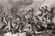 Thomas Pakenham Rebels dancing the Carmagnolle in a captured house by cruikshank oil painting artist