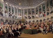 Thomas Pakenham The Irish House fo Commons addressed by Henry Grattan in 1780 during the campaign to force Britain to give Ireland free trade and legislative independ oil painting artist