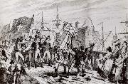 Thomas Pakenham The rebels executing their prisoners on the bridge at Wexford oil painting artist