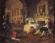 William Hogarth shortly after the wedding oil painting artist
