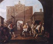 William Hogarth At the city gate of Calais oil painting artist