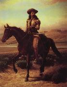 William de la Montagne Cary Buffalo Bill on Charlie oil painting artist