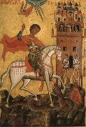 Anonymous The Miracle of St George and the Dragon oil painting artist