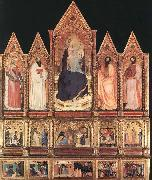 GIOVANNI DA MILANO Polyptych with Madonna and Saints oil painting artist