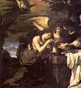 GUERCINO Magdalen and Two Angels oil painting artist