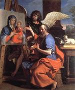 GUERCINO St Luke Displaying a Painting of the Virgin oil painting artist