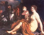 GUERCINO Venus, Mars and Cupid oil painting artist
