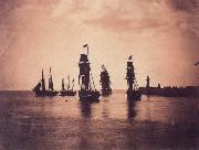 Gustave Le Gray Ship leaving  Harbor oil painting artist