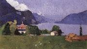 Max Buri Brienzersee-Landschaft oil painting artist