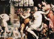 ZUCCHI  Jacopo The Toilet of Bathsheba after 1573 oil painting artist