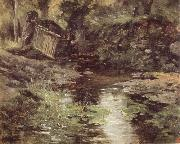 Carlos de Haes A Stream at Pont-Aven oil painting artist