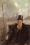 Christian Krohg Paris Hackney Cab Driver oil painting artist