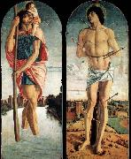 Giovanni Bellini Polyptych of S. Vincenzo Ferreri oil painting artist