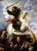 Juan Martin Cabezalero St James the Great in the Battle of Clavijo oil painting artist