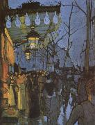 Louis Anquetin Avene de Clicky-five o-clock in the Evening oil painting artist