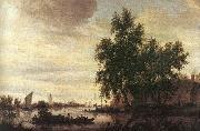 Saloman van Ruysdael The Ferryboat oil painting artist