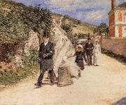 Theodore Robinson The Wedding March oil painting artist