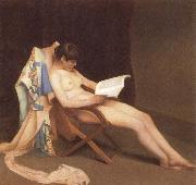 Theodore Roussel The Reading gril oil painting artist