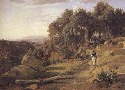 camille corot A view of the burner of Volterra oil painting artist