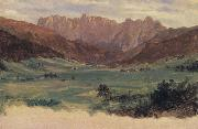 Frederic E.Church Hinter Schonau and Reiteralp Mountains,Bavaria oil painting picture wholesale
