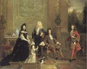 French school Louis XIV and his Heirs oil painting artist