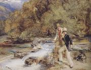 John Frederick Lewis Piscator look you now,you see him plain bring hither the landing net a good one,sixteen inches long See lzaak Walton (mk47) oil painting picture wholesale