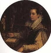 Lavinia Fontana Self-Portrait in the Studiolo oil painting artist